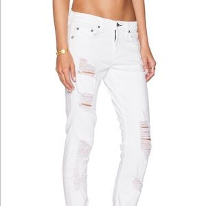 The Dre Boyfriend Destroyed Jeans Rebel White